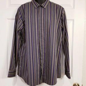 INC Men's Stripe Slim Fit Dress Shirt - XL